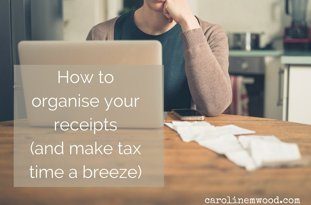 How to organise your receipts (and make tax time a breeze)