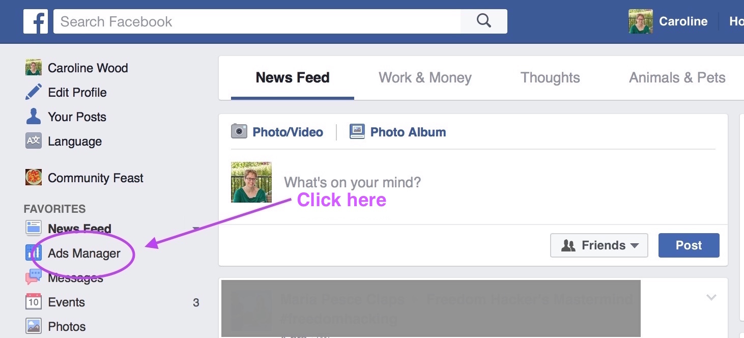 how to create an ad account on facebook manager