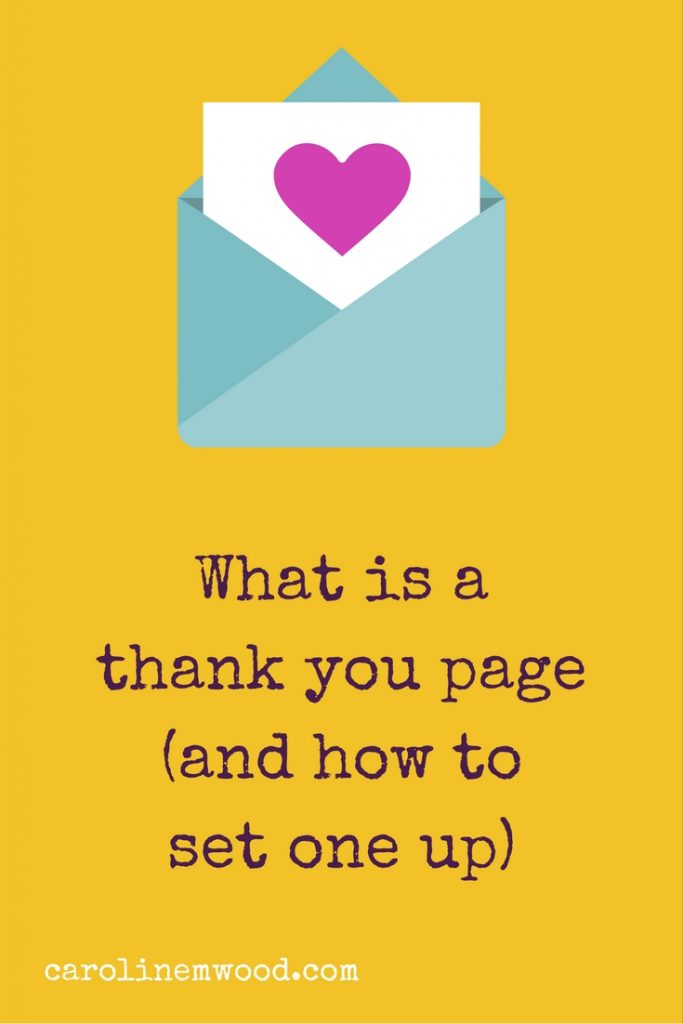 What is a thank you page