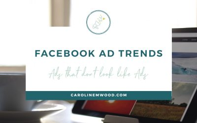 Facebook ad trend: Ads that don't look like ads