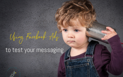 Using Facebook Ads to test your messaging