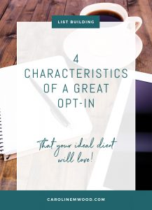 characteristics great opt in