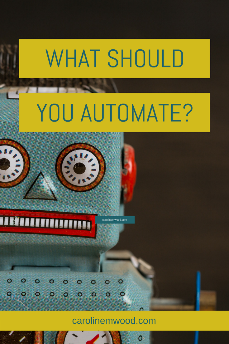 What to automate? robot