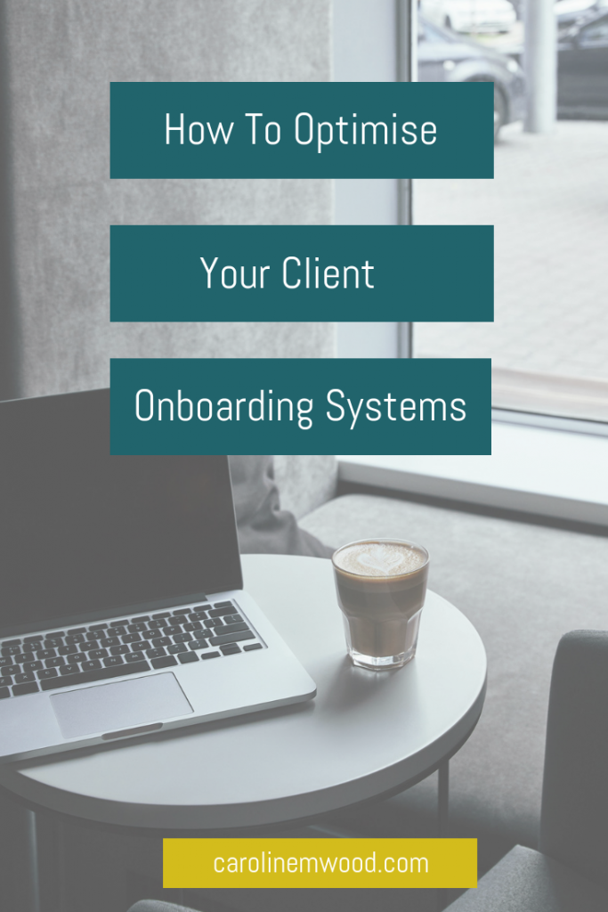 Optimised client onboarding
