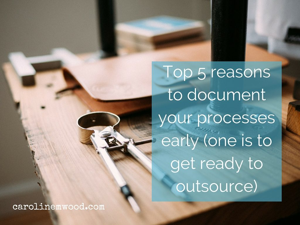 Document your processes early