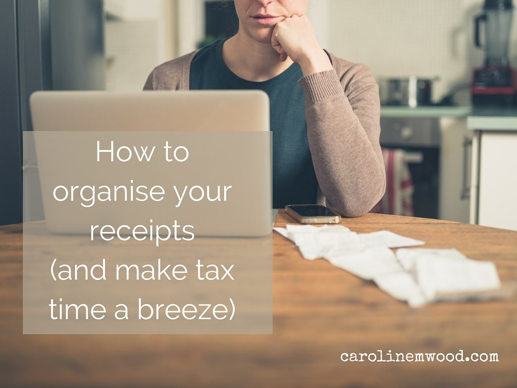 Organise your receipts
