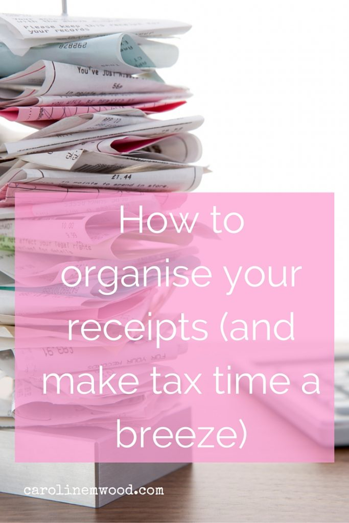 How to organise your receipts
