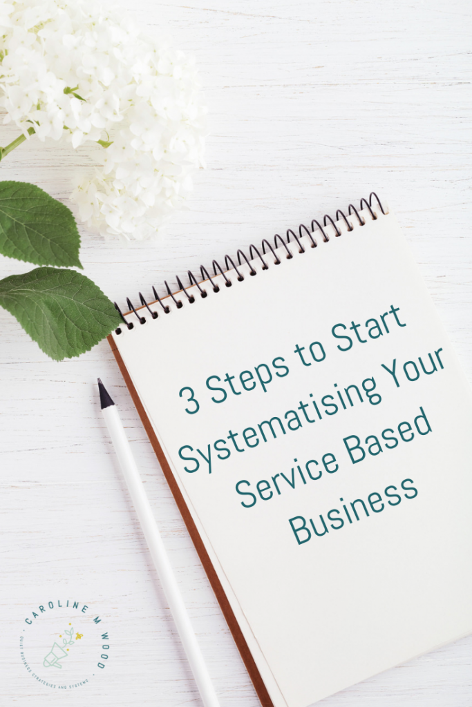 3 steps to start systematising
