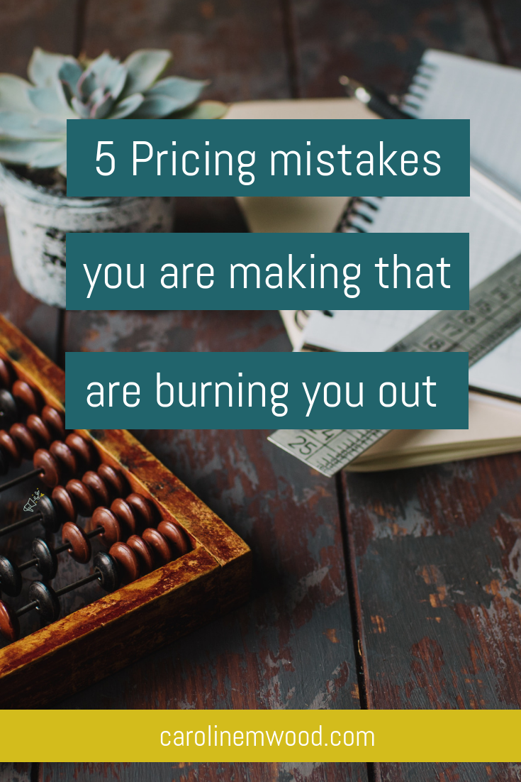 5 pricing mistakes